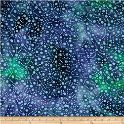 Indian Batik Gypsy Dots Blue