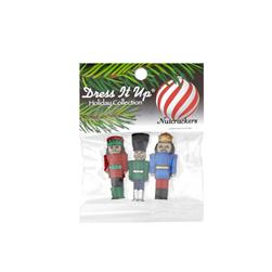Dress It Up Embellishment Buttons Nutcracker