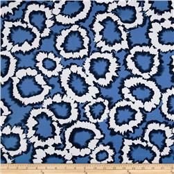 Bloom Stretch Cotton Sateen Splatter White/Blue