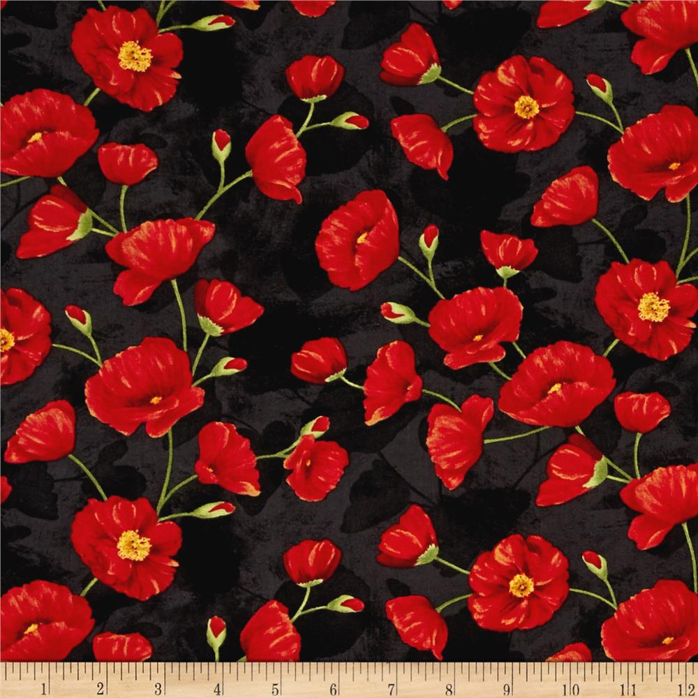 Poppy Celebration Trailing Poppies Red/Black