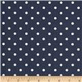 Premier Prints Mini Dots Blue/White