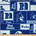 Collegiate Fleece Duke University Blocks Blue