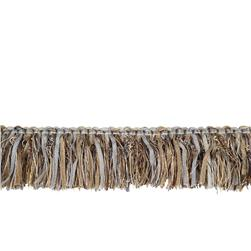 "Fabricut 2.25"" Barista Brush Fringe Metallic"