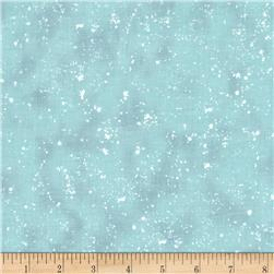 Retro Santa Tonal Speckles Light Teal