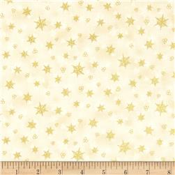 Holiday Accents Classics 2014 Snowflake Metallic Cream