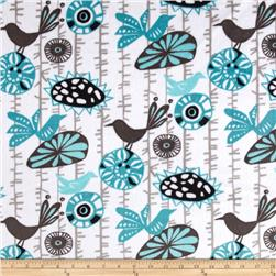 Premier Prints Menagerie Minky Cuddle Teal