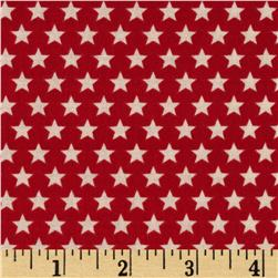 Riley Blake Rocket Age Stars Red