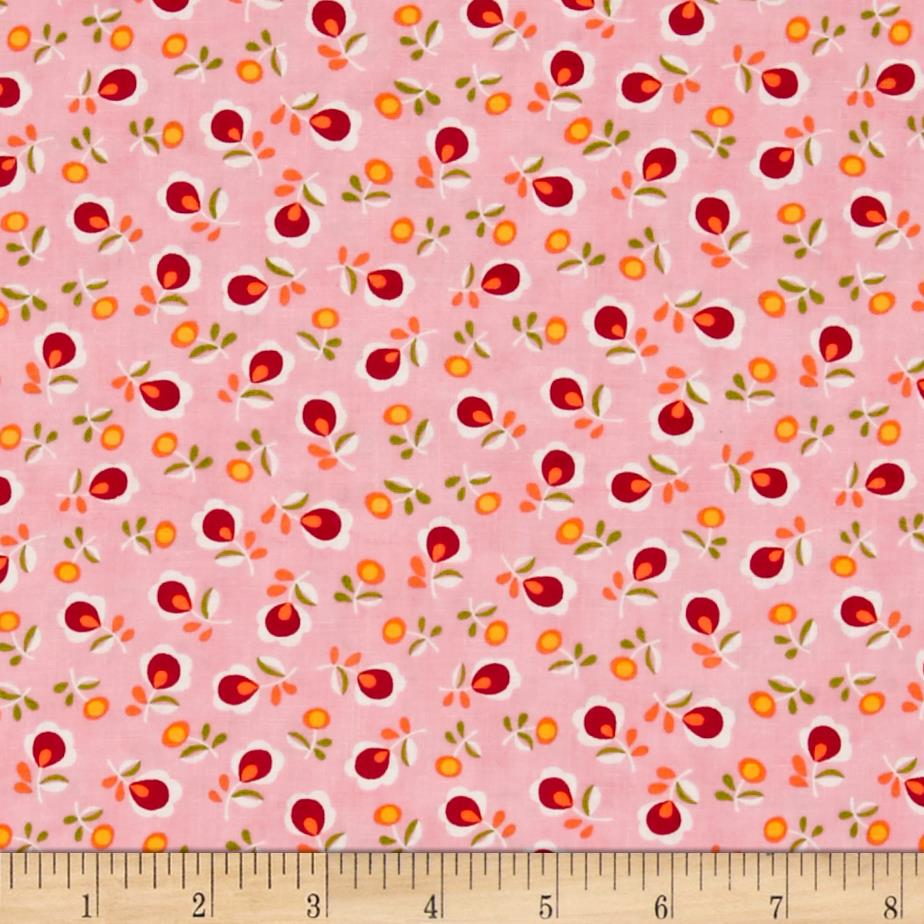 Moda sew sew dandy pink lemonade discount designer for Cheap sewing fabric