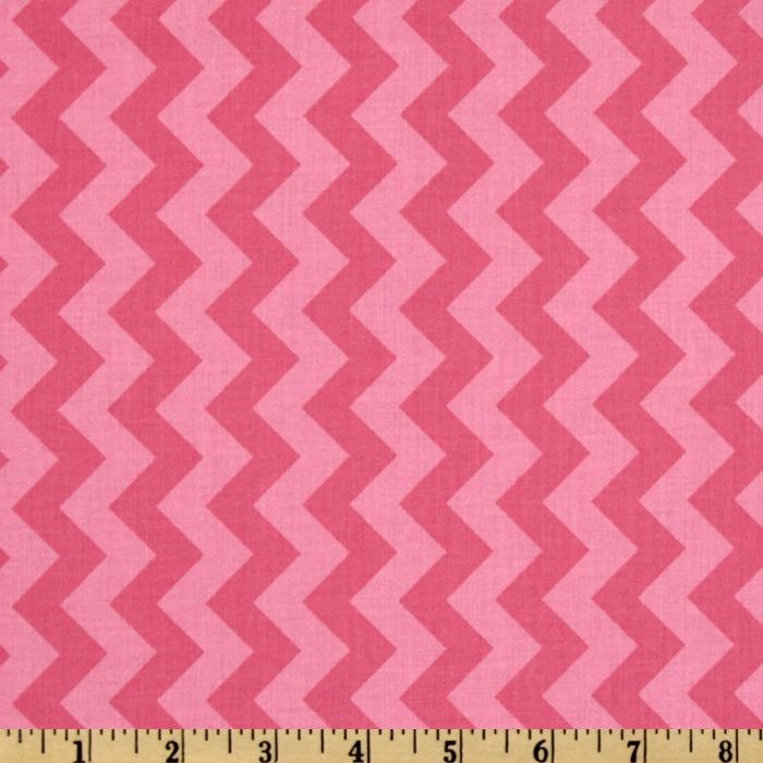 Riley Blake Chevron Small Tonal Hot Pink