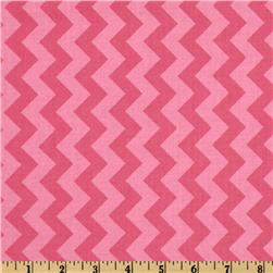 Riley Blake Chevron Small Tonal Hot Pink Fabric
