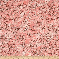 Linen/Cotton Blend Folly Tangle Coral Sand