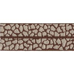 Dritz 1'' x 1 Yard Fold-Over Elastic Animal Skin Brown/Tan