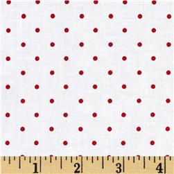 A Year of Love Dot Red/White Fabric