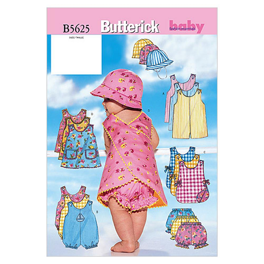 Butterick Infants' Romper, Jumper, Panties and Hat Pattern