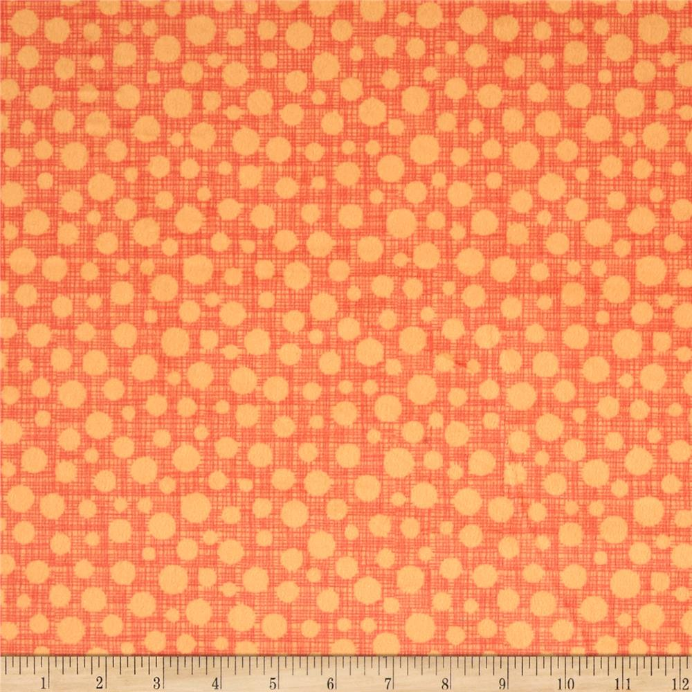 Michael Miller Minky Safari Friends Hash Dot Orange
