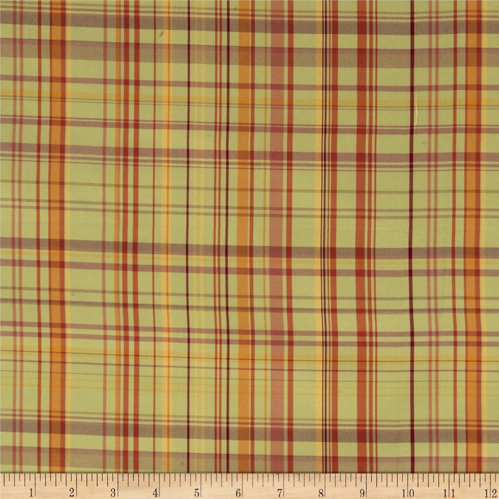 Robert Allen Promo Pasto Plaid Taffeta Citrus Multi