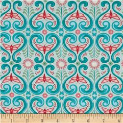 Grace Deco Butterflies Teal