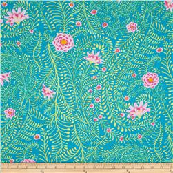 Kaffe Fassett Collective Ferns Turquoise Fabric