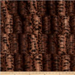 Minky Fancy Puma Soft Cuddle Brown/Black Fabric