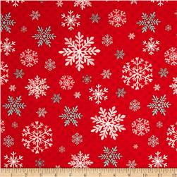 Peppermint Penguin Snowflake Red
