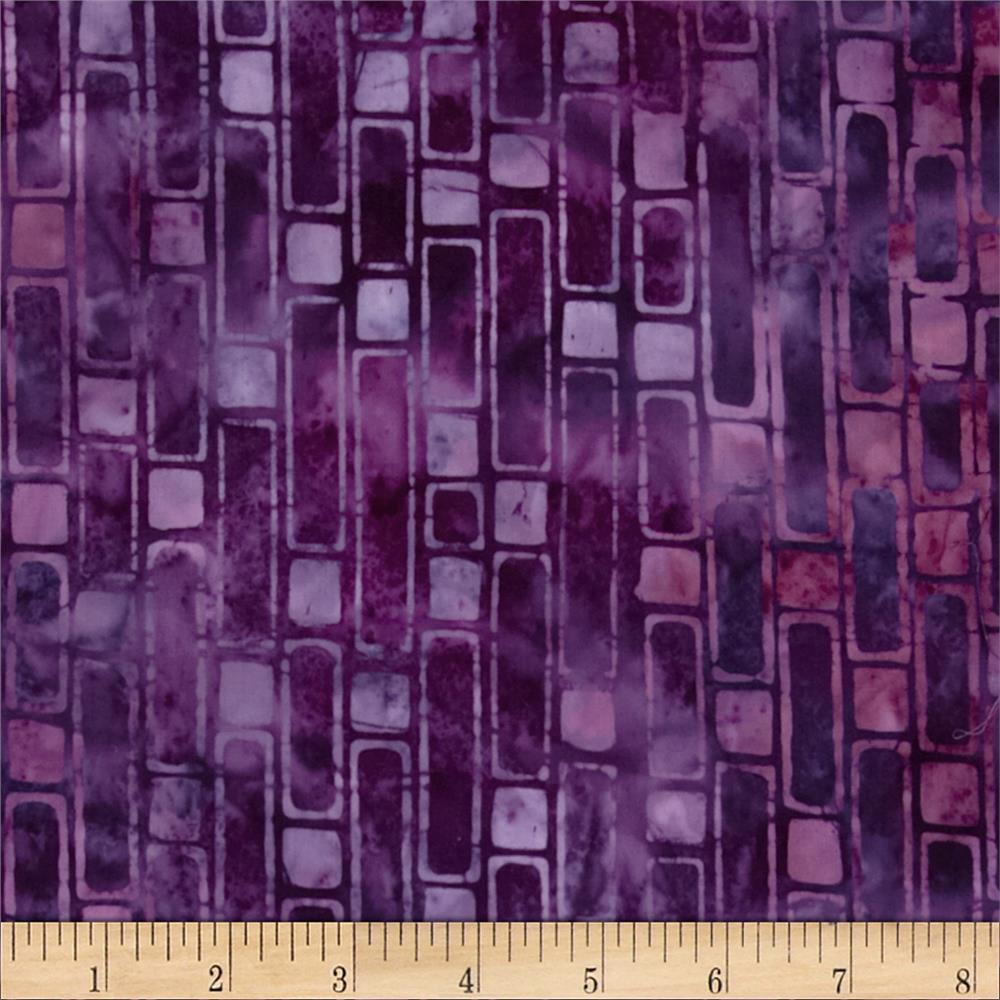 Artisan Batik Geoscapes 3 Geo Stripe Grape