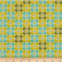Joel Dewberry Notting Hill Cotton Voile Square Petals Citron