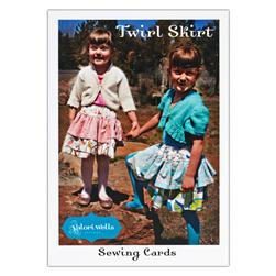 Valori Wells Twirl Skirt Sewing Card Pattern