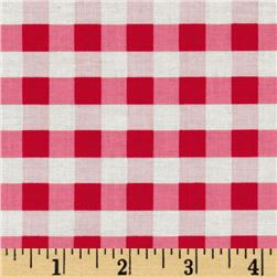 Riley Blake Twice as Nice Plaid Red