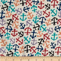American Coast Anchors Away Tossed Anchors Natural