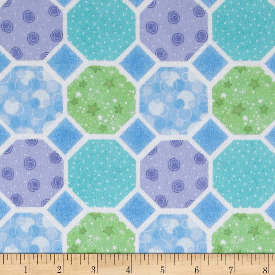 Flannel Hexigons Blue