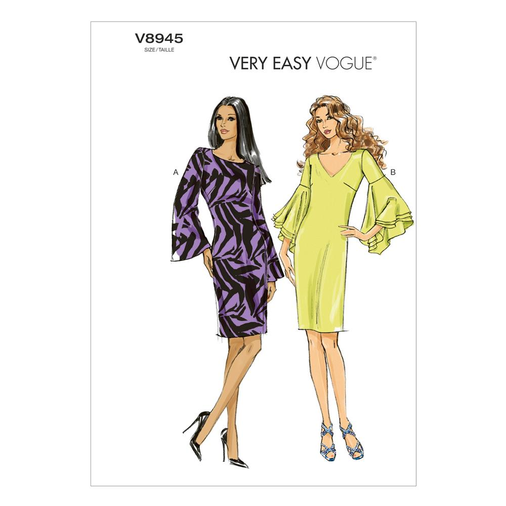 Vogue Misses' Dress Pattern V8945 Size A50