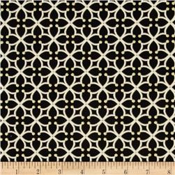 Kanvas Forever Sunflowers Metallic Cross Lattice Black/Cream
