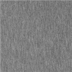 Rayon Jersey Knit Solid Heather Gray