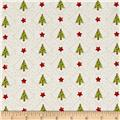Purely Christmas Stars And Trees Cream