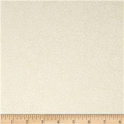 Whisper Print Small Flower Tonal Ivory
