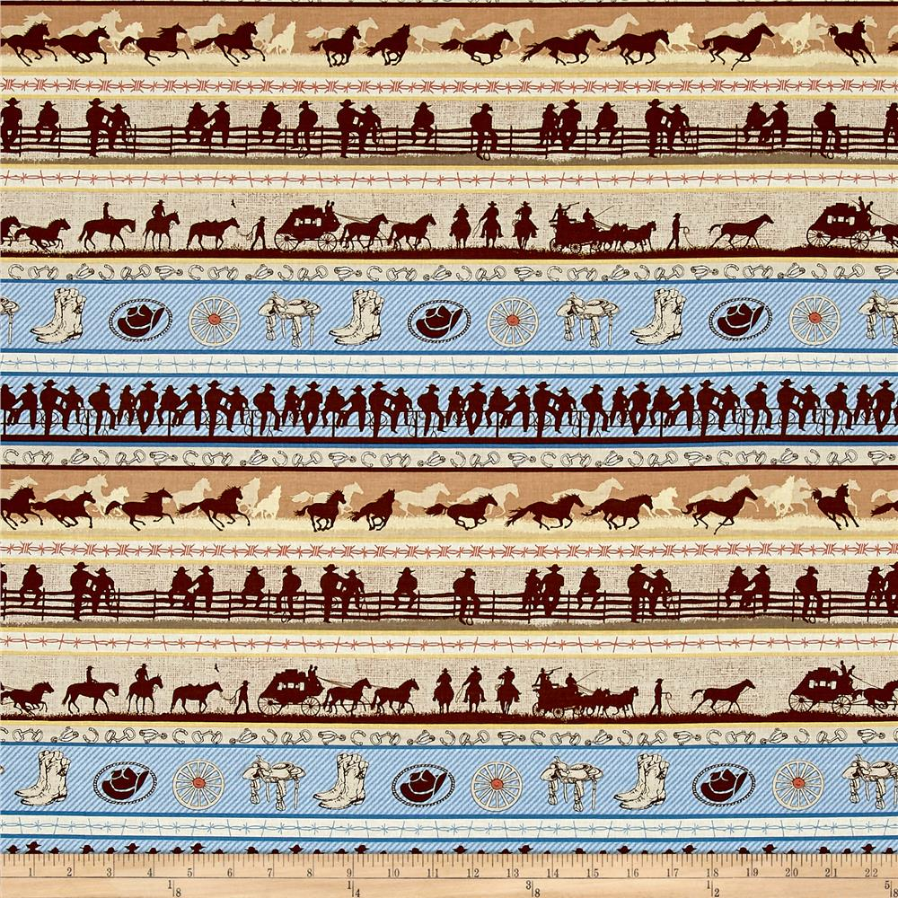 Riding Westward Repeating Stripes Multi
