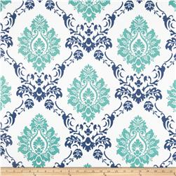 RCA Sheers Damask Blue/Green Fabric