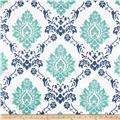 RCA Sheers Damask Blue/Green