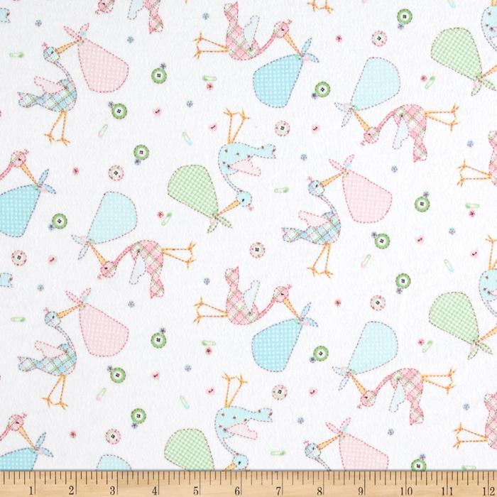 Flannel Stork White