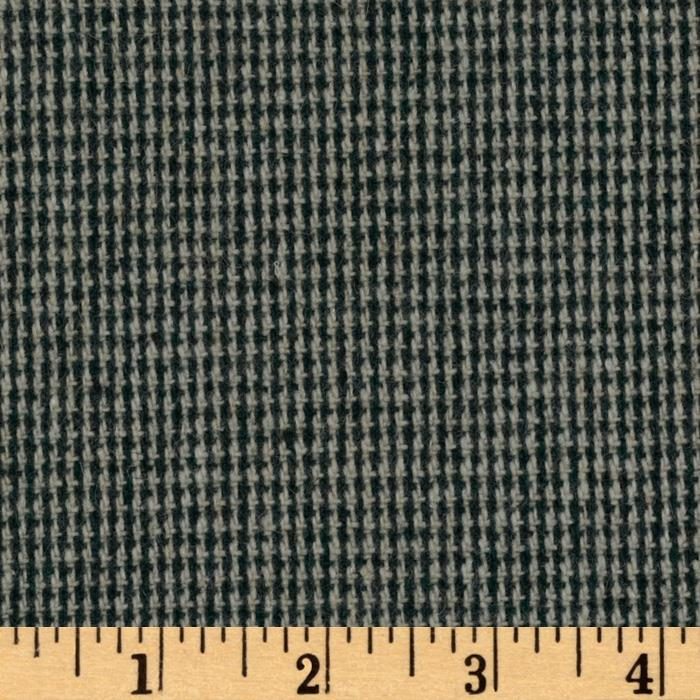 Wool Blend Suiting Mini Plaid Green