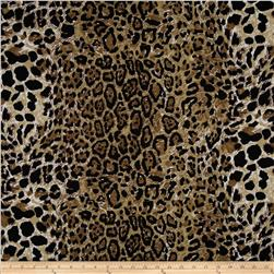 Stretch Jersey Knit Animal Skins Cheetah Black/Brown