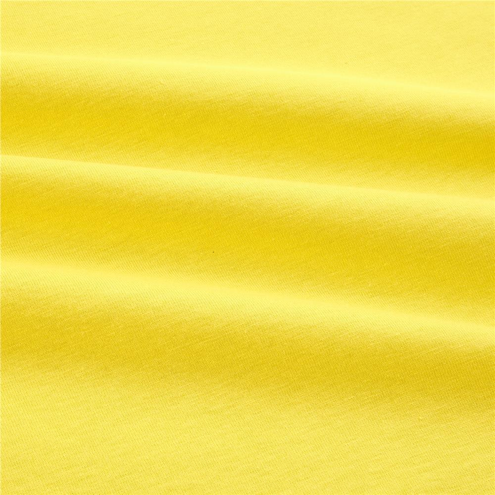 Cotton Lycra Spandex Jersey Knit Bright Yellow Fabric