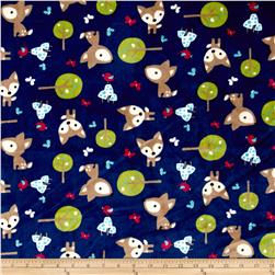 Shannon Minky Cuddle Prints Oh, Deer Midnight