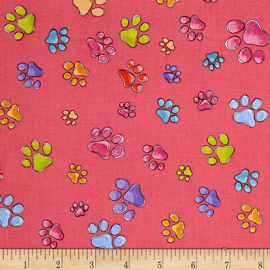 Loralie Designs Dog Gone Pawful Paws Pink