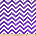 Minky 3/4'' Chevron White/Purple