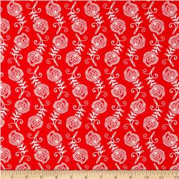 Contempo Feathers Red/White