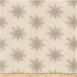 Fabricut  Embroidered Metallic Sunburst Slate