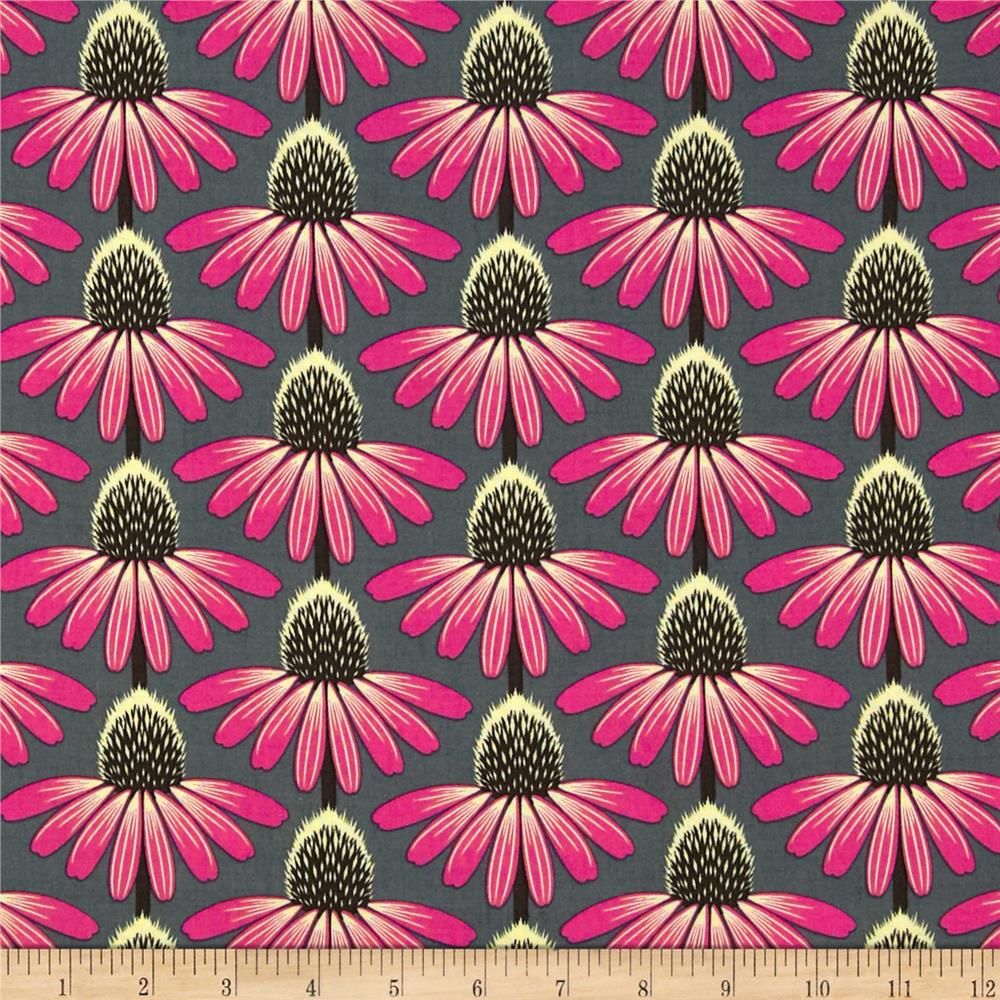 Anna Maria Horner Pretty Potent Rayon Challis Echinacea Burst