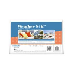"Fairfield Weather Soft Outdoor Pillow Insert 12"" x 18"" White"