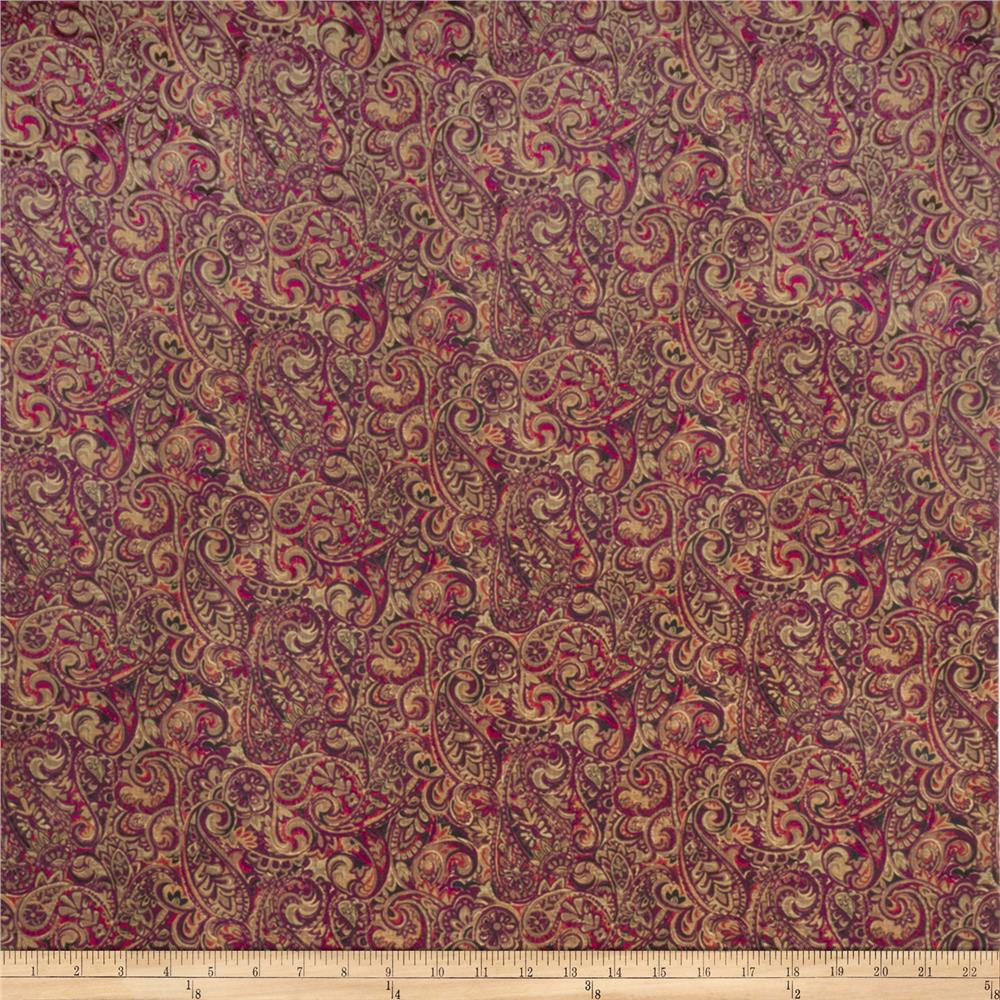 Jaclyn Smith 02126 Paisley Blend Wild Berry